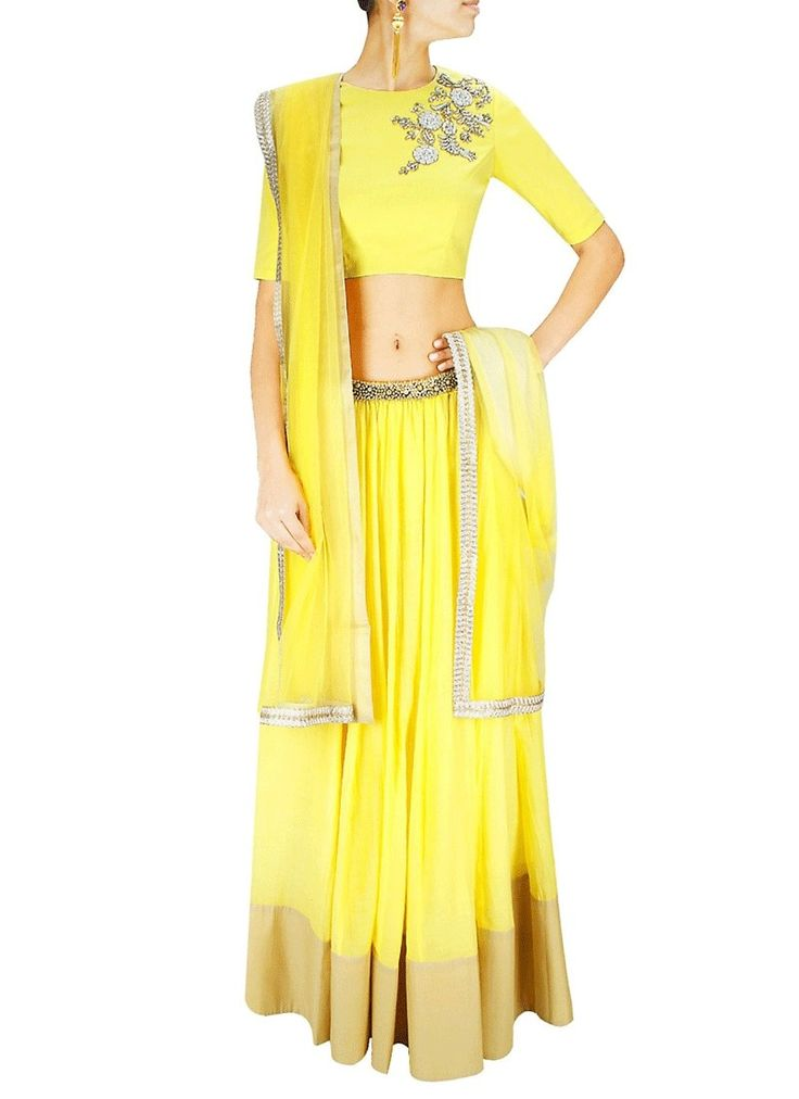 True magnificence will come out as a outcome of the dressing design with this Yellow Georgette Readymade Lehenga Choli. Beautified & stylized with Lace work to give you an attractive look.  SHOP NOW @lushikastore  #lushika #fashion #clothes #ethnicwear #lehengas #sarees #cholis #suits #online