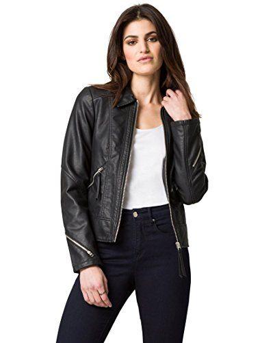 LE CHÂTEAU Women s Faux Leather Edgy Moto Jacket  032cd66b147
