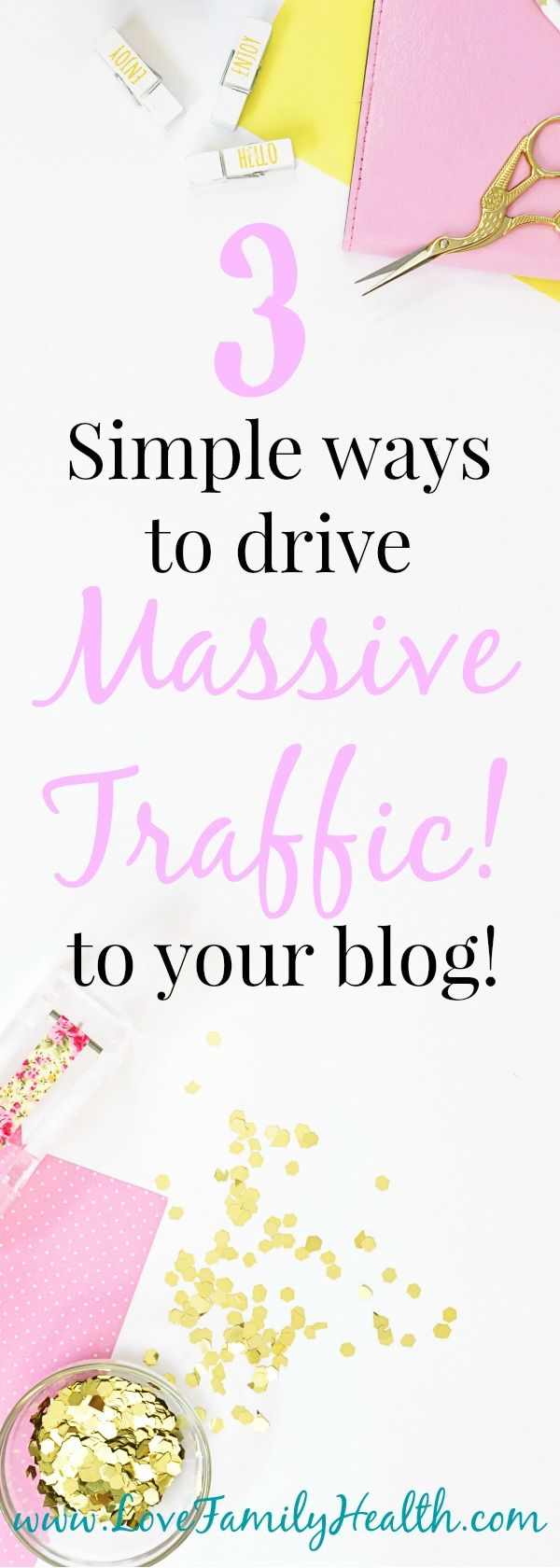 Here are 3 simple ways to increase your blogs traffic! #increaseblogtraffic