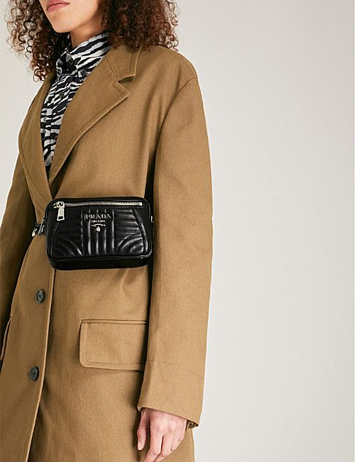 354620f817 PRADA Small quilted leather belt bag