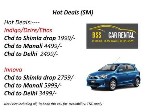 Chandigarh taxi service for outstation