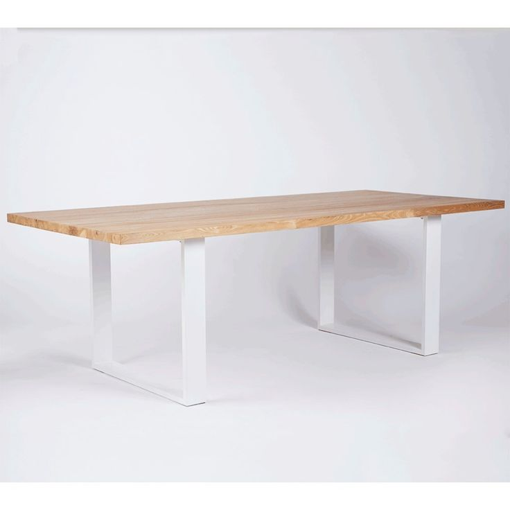 The Pyrmont Dining Table- Elm Timber Top on White Steel Legs | Urban Couture - Designer Homewares & Furniture Online