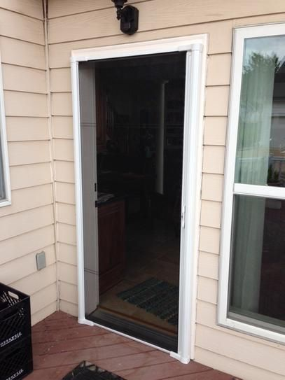 brisa white standard retractable screen door