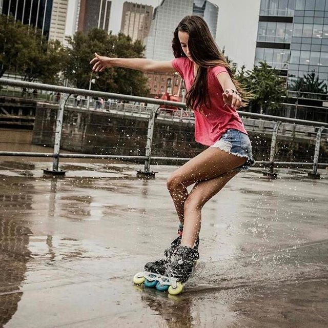 The Imperial skates are one of everyone's favorite Freeskates!! Why?? Because they can handle rough situations just like in this awesome image of @arasofiac sliding in the rain !! Bearings ? You can always go for the @wicked_bearings rustproof : @nm_roller #welovetoskate #inlinskating #powerslide #imperialskates #inlineskates