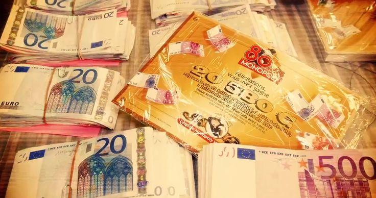 seules 80 boîtes Monopoly contiennent de vrais billets en euros