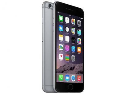 """iPhone 6 Plus Apple 64GB Cinza Espacial Tela 5,5"""" - Retina 4G Câmera 8MP + Frontal iOS 8 Proc. M8 com as melhores condições você encontra no Magazine Kicking. Confira!"""