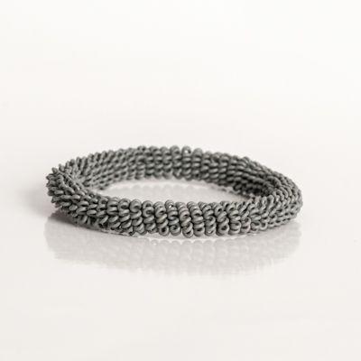 thumbnail for Spiral bangle - grey