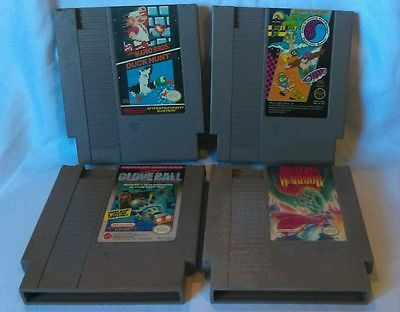 Original Nintendo NES video game LOT of 5 Dragon Warrior, Mario, duck hunt,etc