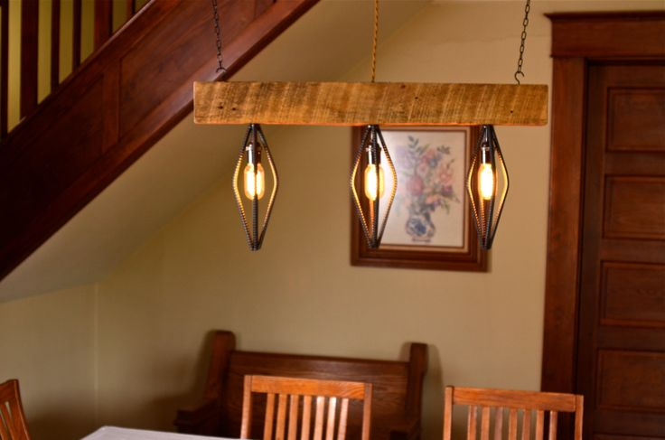 1000 images about diy lighting on pinterest ceiling for Diy wood beam light fixture