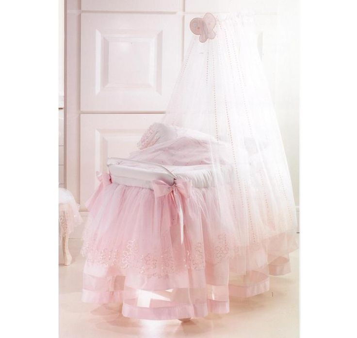 The Baby Cot Shop - Terence Wicker Bassinet in Pink, £2,136.00 (http://www.thebabycotshop.com/terence-wicker-bassinet-in-pink/)