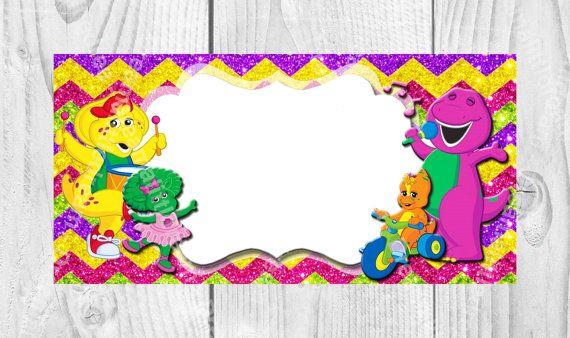Barney the Dinosaur Labels by DreamalittleCraft on Etsy, $3.00