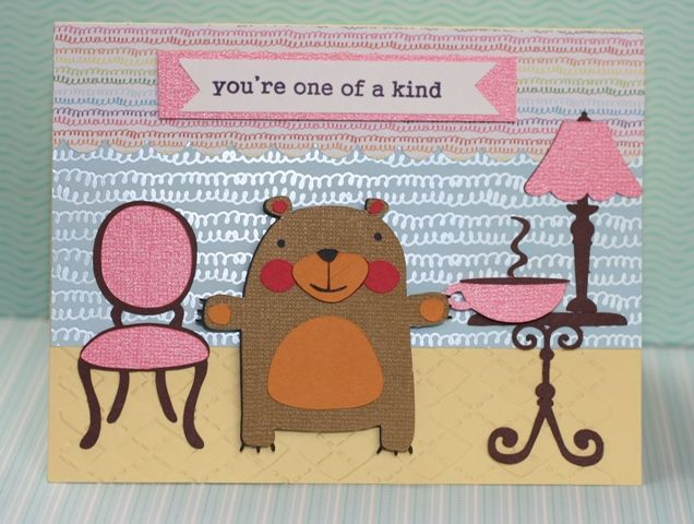 Bear Card with KNK Zing, Lettering Delights #Xyron #KNKZing #LetteringDelights #JoysLifeStamps #joyslife