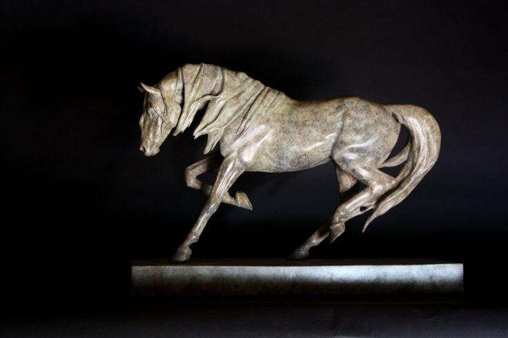 "'Dynamic' bronze limited edition of nine. 13'5"" x 19"""