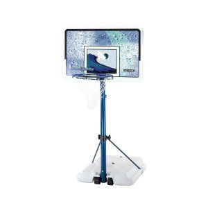Lifetime 1301 Pool Side Basketball System with Backboard (White/Blue, 44-Inch) White Granite 44-inch rectangular Impact backboard. Blue hammer tone 2-piece, 3-inch round telescoping pole.  http://awsomegadgetsandtoysforgirlsandboys.com/cool-gadgets-boys/ Lifetime 1301 Pool Side Basketball System with Backboard (White/Blue, 44-Inch)