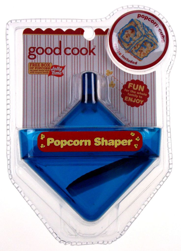 Lot 3 Good Cook Jolly Time Popcorn Shaper Square Cube Blue Non Stick