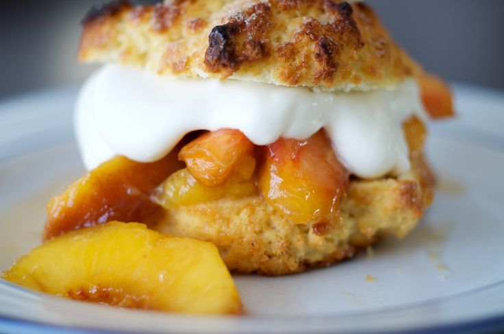 Peach Shortcake  - great way to use up peaches in season now!