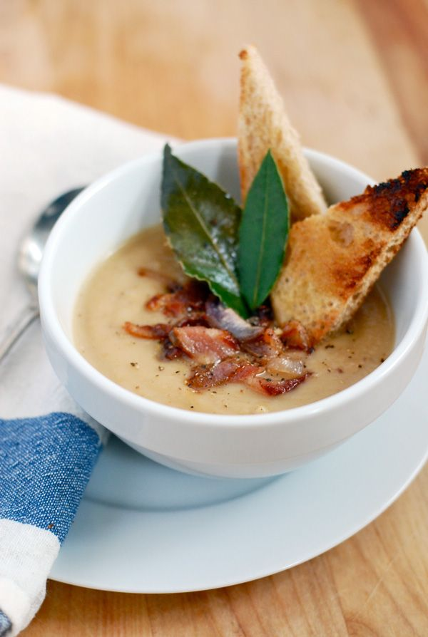 roasted parsnip soup with bacon and shallots // brooklyn supper