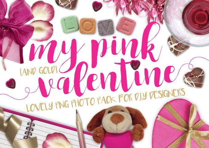 My pink valentine png photo pack by MyCosmicShop on @creativemarket