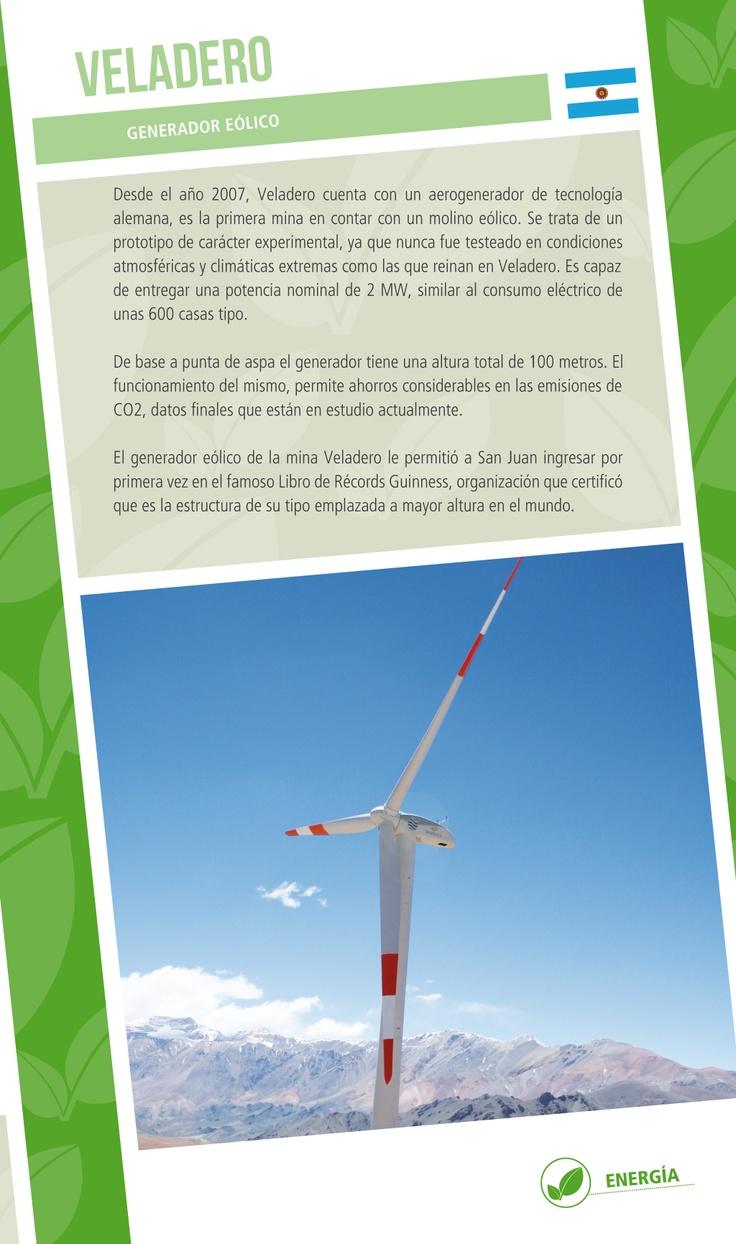Generador Eólico de Veladero - Infografía completa en el sitio de Barrick Sudamérica http://barricksudamerica.com