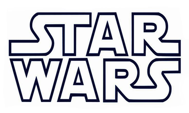 Printable B&W Star Wars Logo Coolest Free Printables