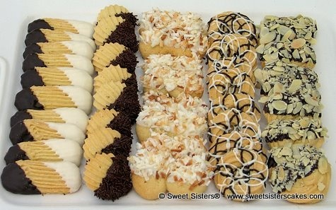 For a Black and White affair by Sweet Sisters! Butter cookies #dessert ...