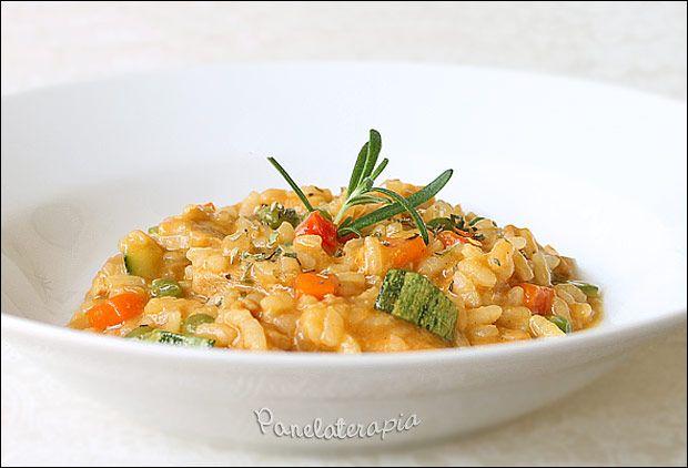 PANELATERAPIA - Blog de Culinária, Gastronomia e Receitas: Risotto de Frango com Legumes