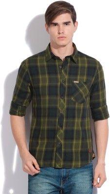 Flying Machine Men's Casual Shirt - Buy OLIVE Flying Machine Men's Casual Shirt Online at Best Prices in India | Flipkart.com