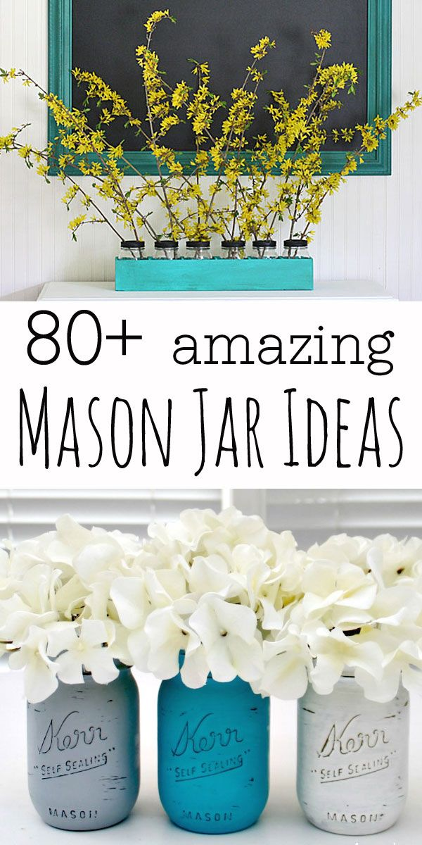 A huge collection of Mason Jar Crafts & ideas all in one place: recipes, gifts, holiday decor and tons of other mason jar crafts.