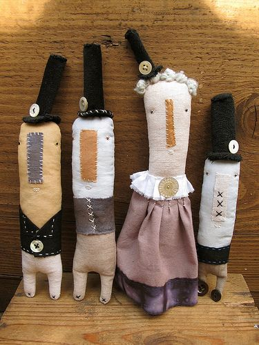 Top hat dolls by Cathy Cullis: