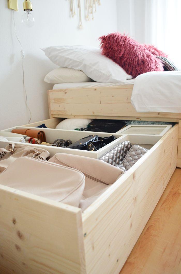 DIY | Minimalistisches Stauraumbett | DIY storage bed build with plywood