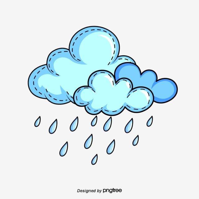 Blue Cute Cartoon Clouds And Raindrops Cartoon Clouds Rain Cartoon Cloud Drawing