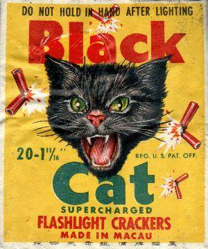 Black Cat Flashlight Firecrackers packaging
