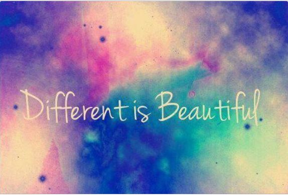 Different is beautiful  #quote #words