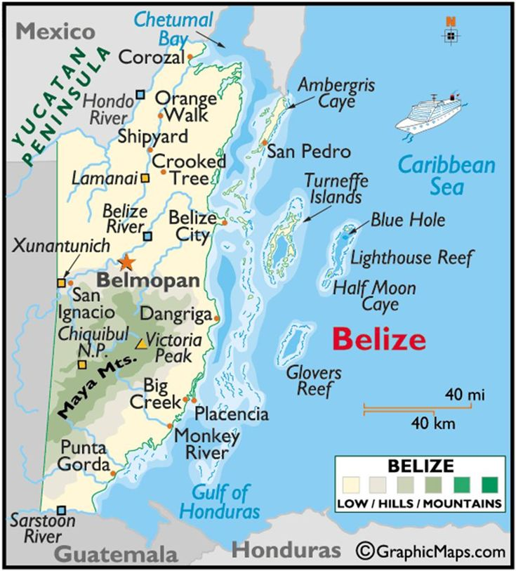Best Belize Images On Pinterest Belize Travel Central - Belize political map