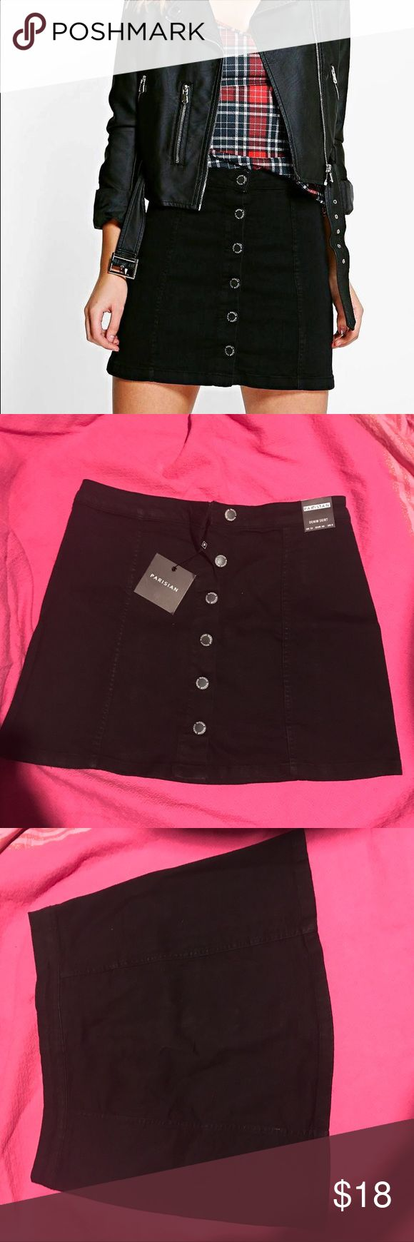 Boohoo Jessica Black Skirt Size 8 NWT US size 8, UK Size 12. Great skirt, just doesn't fit me! Boohoo Skirts A-Line or Full