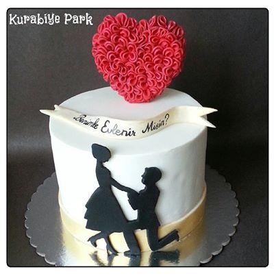 Wedding Proposal Cake