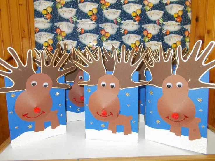 Kerst knutsel | rendier van papier | basisschool | primary school craft…