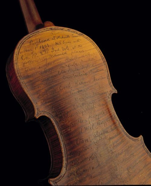 Civil War soldier used his violin to record his battles