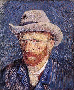 Vincent Van Gogh - Autoportrait au chapeau de feutre, 1887, huile sur toile (41,7 × 32,7 cm), musée Van Gogh (Amsterdam). Propriété de la Fondation Vincent van Gogh (F344/JH1353)