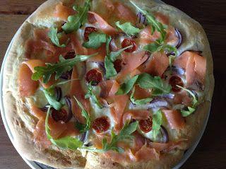 La Cocinadora: Pizza de trucha ahumada