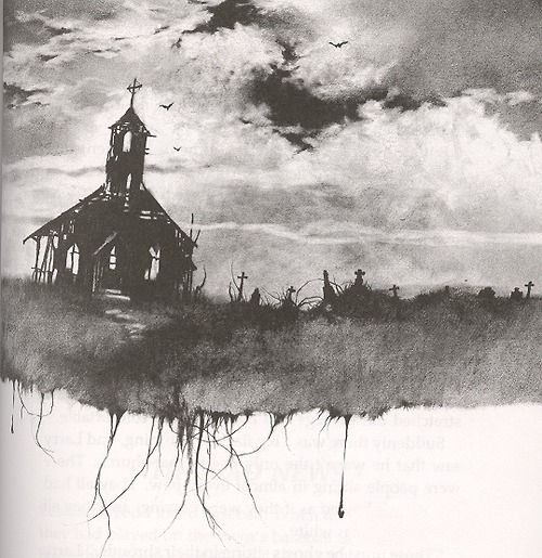 Haunted house, scary stories to tell in the dark style.