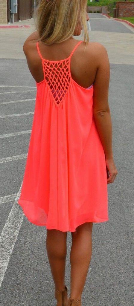 #street #style orange dress @wachabuy