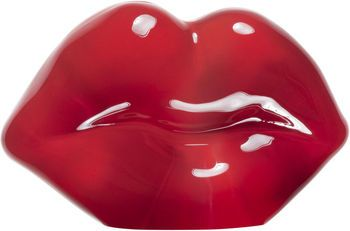 Make Up Hotlips Sculpture Red, Åsa Jungnelius, Kosta Boda - Buy art glass at ArtGlassVista!