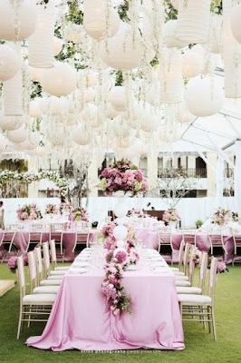 tables look elegant with long table cloths