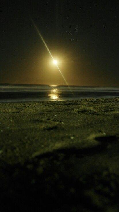 La playa de noche...