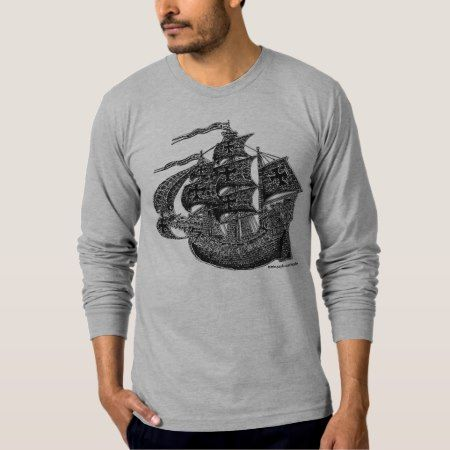 Tall sailing ship cool t-shirt design - tap to personalize and get yours