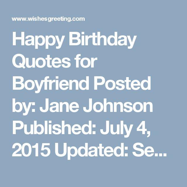 1000+ Boyfriend Birthday Quotes On Pinterest