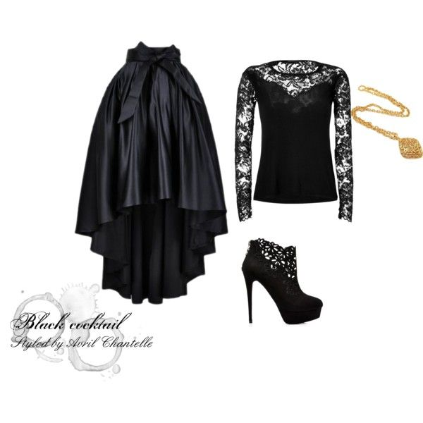 """""""Black Cocktail"""" by avrilchantelle on Polyvore"""