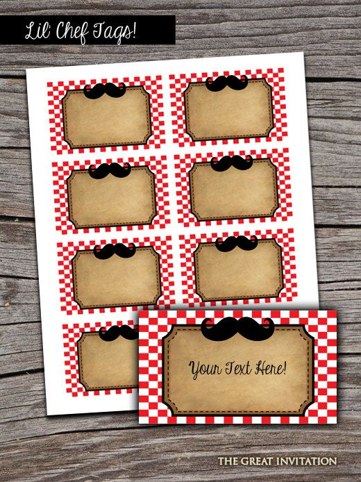 Our Little Chef PIzza PartyTheme Food by TheGreatInvitation