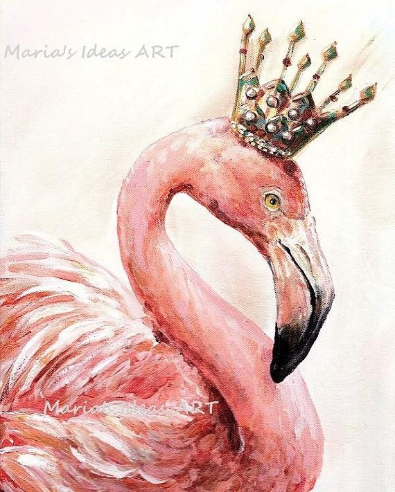 Flamingo art Pink Flamingo wall art Bird print Bird wall
